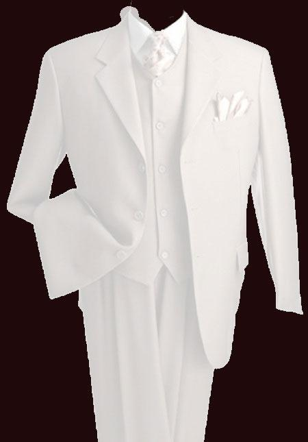 New Vintage Tuxedos, Tailcoats, Morning Suits, Dinner Jackets 3 Piece Suit Wide Leg Pants Wool-feel Off White Mens Loose Fit Trousers Suit Jacket Cheap $139.00 AT vintagedancer.com