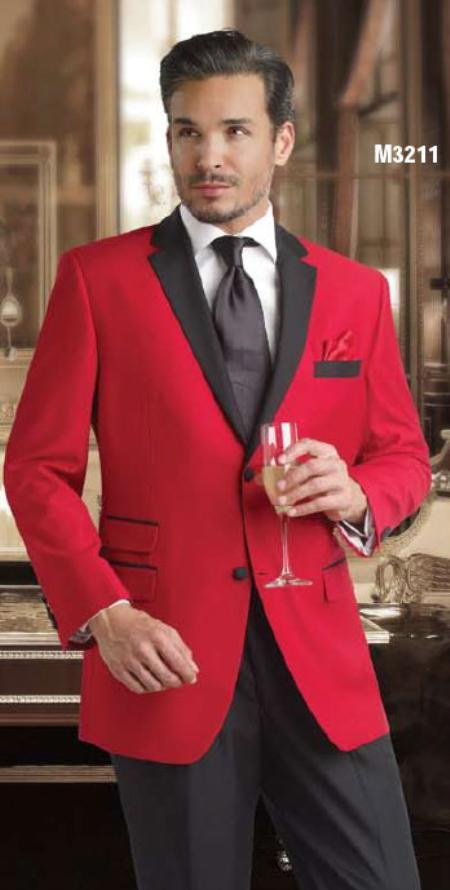 SKU#KA1272 Mens 2 Button Tuxedo High Quality Suit $500