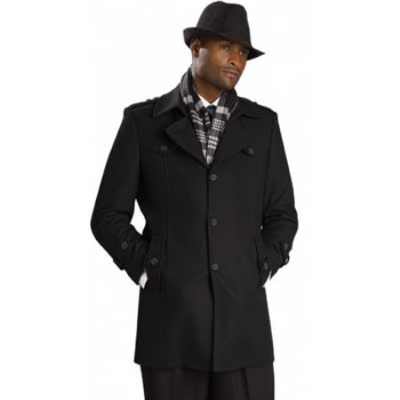 MensUSA Mens Black Overcoat at Sears.com