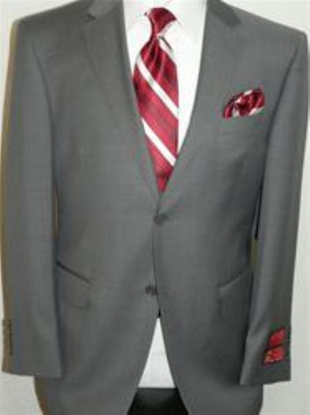 SKU#KA12405 Authentic Mantoni Brand Gray Suit By Mantoni
