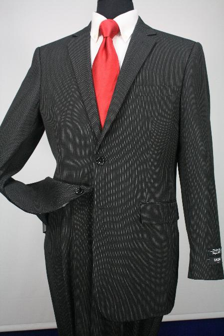 SKU#KA1261 2 Button Mens 100% Wool Executive Business Suit $139