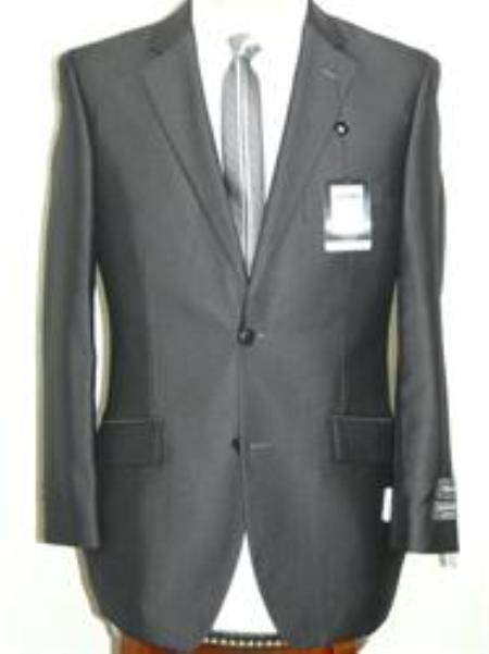 SKU#KA1274 Summer Light Weight Fabric Charcoal Shiny Suit $129