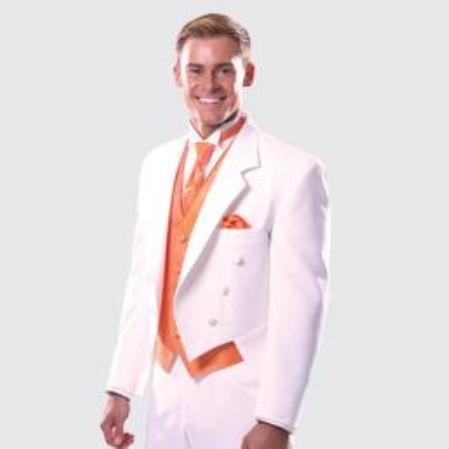 SKU#KA1323 White Notch Full Dress by Erik Lawrence $225