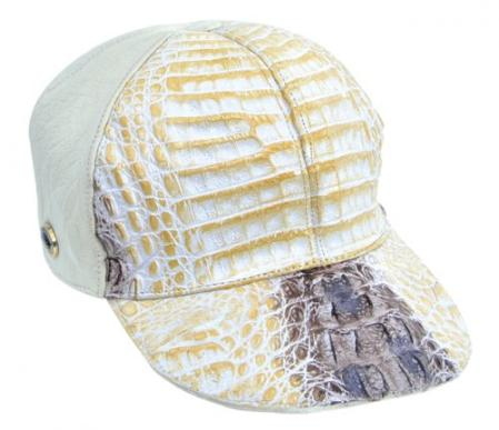 SKU#KA1342 Los Altos Natural Genuine Crocodile Baseball Hat $169