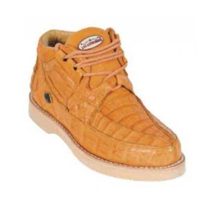 SKU#KA1346 Los Altos Buttercup Genuine All-Over Crocodile ~ Alligator Shoes Casual