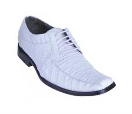 MensUSA.com Los Altos White Genuine All Over Crocodile Shoes(Exchange only policy) at Sears.com