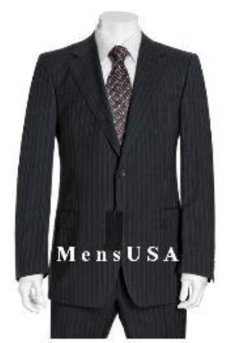 MensUSA.com Reg5 Muted Mini Pinstripe 140s Wool 2 Button Pleated Pants non back vent coat style coat(Exchange only policy) at Sears.com