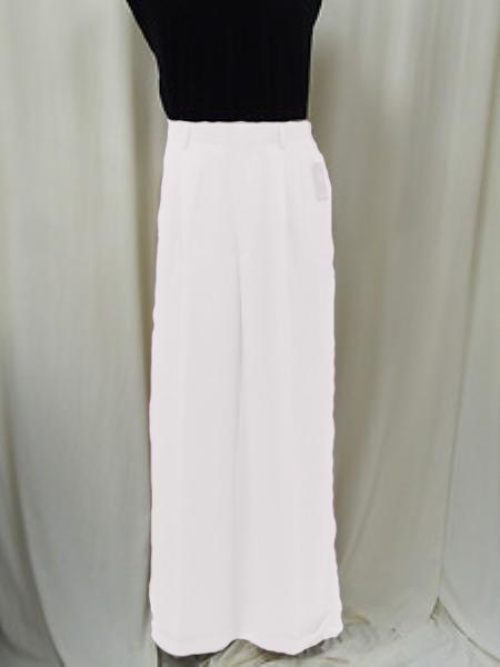 "SKU#KA1359 Mens Super 22"" Wide-Leg Pleated Baggy Style Dress Pants Off-White $75"