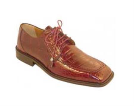 SKU#KA1382 Ferrini Burgundy ~ Maroon ~ Wine Color Genuine Alligator Shoes
