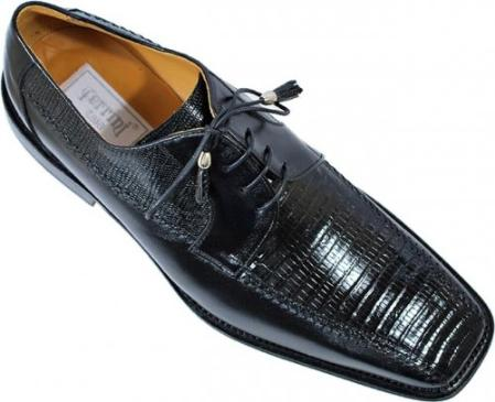 SKU#KA1387 Ferrini Black Genuine Lizard Shoes $319