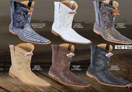 MensUSA.com Los Altos Square Toe Alligator Print Mens Western Cowboy Boots(Exchange only policy) at Sears.com