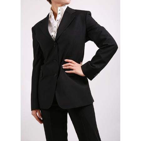 SKU#KA1458 Ferrecci Womens Black Two-piece Suit $99
