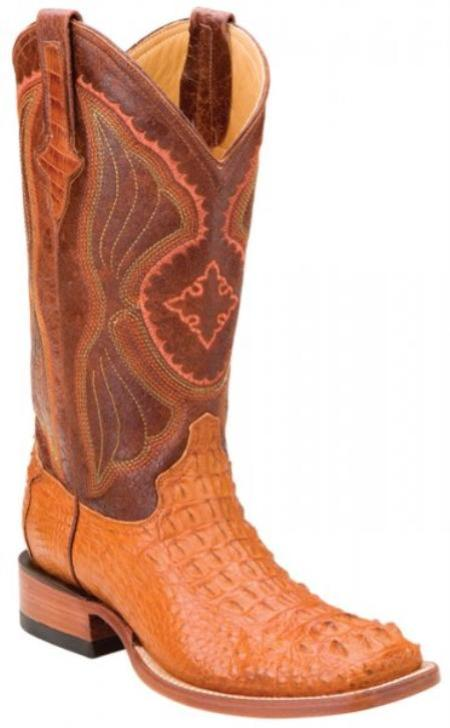 SKU#KA1402 Ferrini Peanut Genuine Hornback Nile Crocodile Boots $619