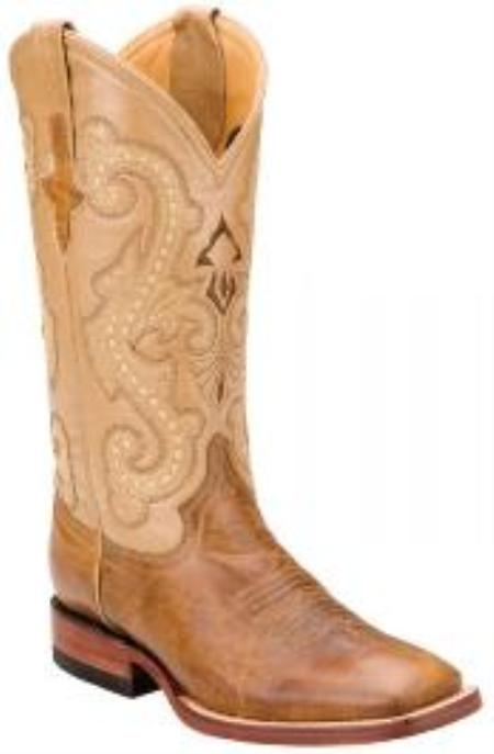 SKU#KA1399 Ferrini Antique Saddle Genuine Distressed Kangaroo Exotic Boots $209