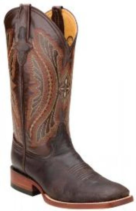 SKU#KA1397 larger image Ferrini 10893-09 Chocolate Genuine Distressed Kangaroo Exotic Boots $209