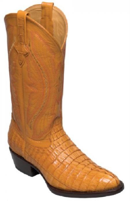 SKU#KA1394 Ferrini Genuine Caiman Tail Crocodile Boots $399
