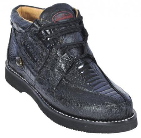 SKU#KA1282 Black Genuine All-Over Ostrich Leg Casual Shoes $239