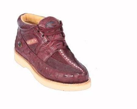 SKU#KA1276 Mens Ostrich & Stingray Shoes