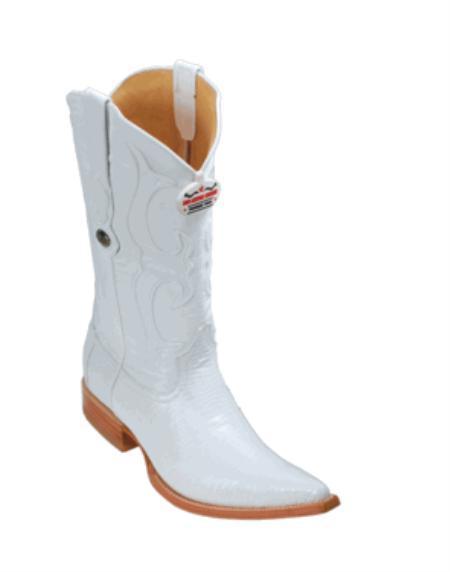 SKU#KA1136 Los Altos White Ring Lizard Cowboy Boots