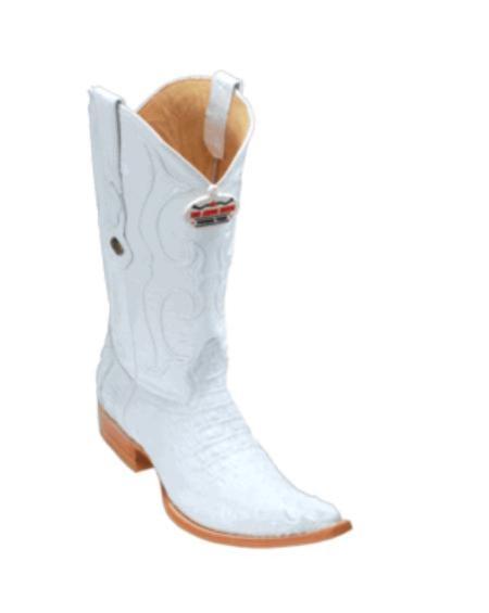 SKU#KU14 Los Altos White caiman ~ alligator Hornback Cowboy Boots