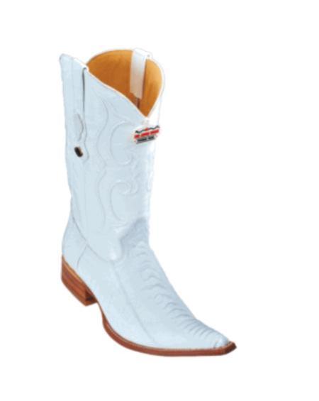 SKU#KA1132 Los Altos White Ostrich Leg Cowboy Boots