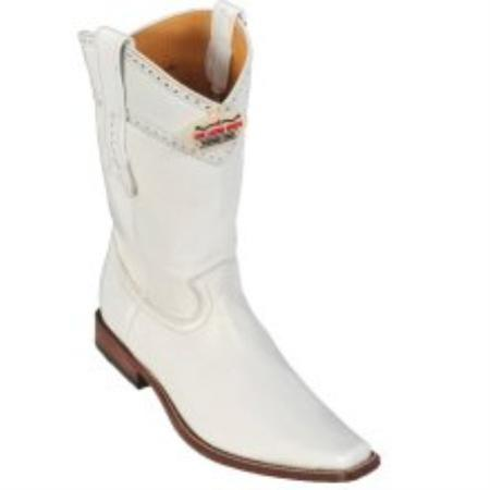 SKU#KA1131 Los Altos White Elk Cowboy Boots