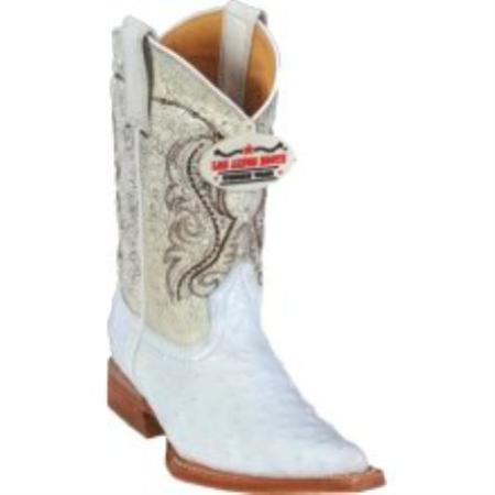 SKU#K1121 Los Altos White Ostrich Kids Boots $247