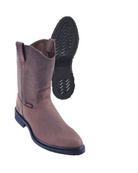 SKU#KA1119 Los Altos Nubuck with Vibrum Sole Work Boots $117