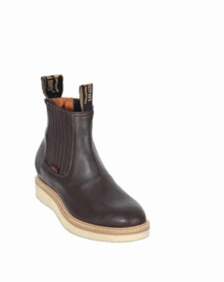 SKU#KA1117 Mens Los Altos Short Work Boot Brown $107
