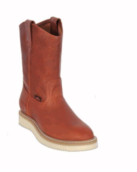 SKU#KA1110 Mens Los Altos Grasso Nappa Work Boot Honey $107