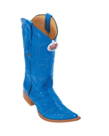 SKU#JF6399 Royal Blue Eel XXX-Toe Cowboy Boots $217