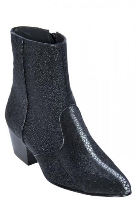 MensUSA.com Black All Over Genuine Stingray Dressy Boots With Zipper (Exchange only policy) at Sears.com