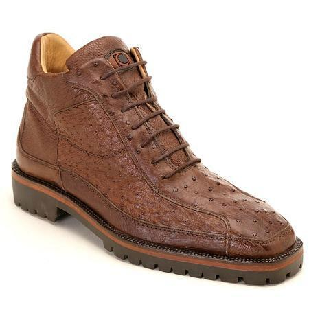 SKU#KA3778 Brown Genuine Ostrich Boot $335