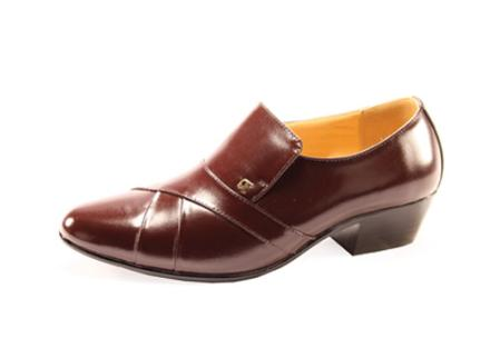 SKU#LZ2909 Mens Brown Slip On ~ Loafer Shoes