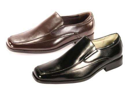 SKU#RN82032 Oxford Slip-On Dress Shoes Black $99
