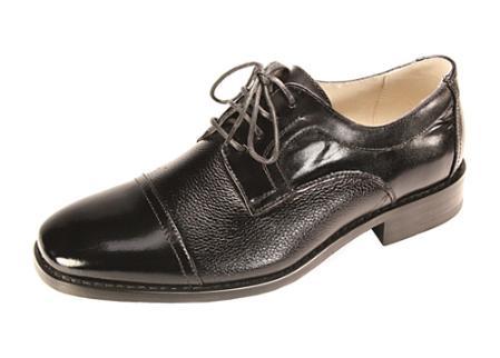 MensUSA Black Cap Toe Lace Up Dress Shoe at Sears.com