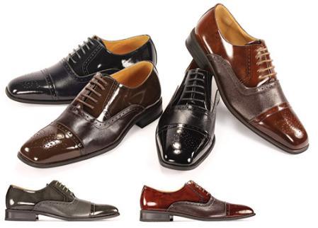 SKU#CC55422 Oxford Black Shoes for Men $99
