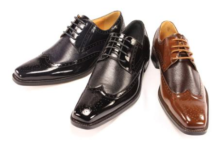 SKU#EF44442 Black Oxford Shoes for Men $799