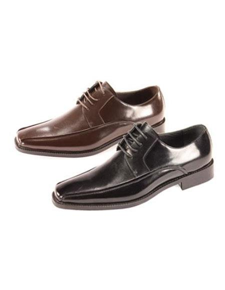 SKU#BB7677 Mens Oxford Shoes Available in Black & Brown $99