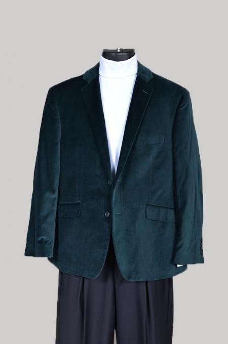 SKU#GR38212 Mens Velvet Sport Coat- Green $799