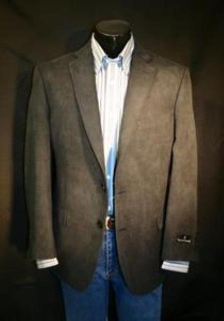 SKU#VFT213 Black Big Size Microfiber Sportcoat $139