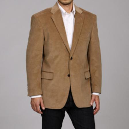 SKU#NHP123 Mens Tan Corduroy Sportcoat $99