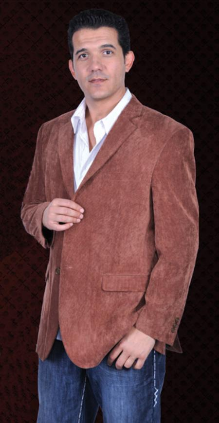 MensUSA Mens Corduroy 2 Button Sport Coat Notch Lapel Side Vents Brown at Sears.com