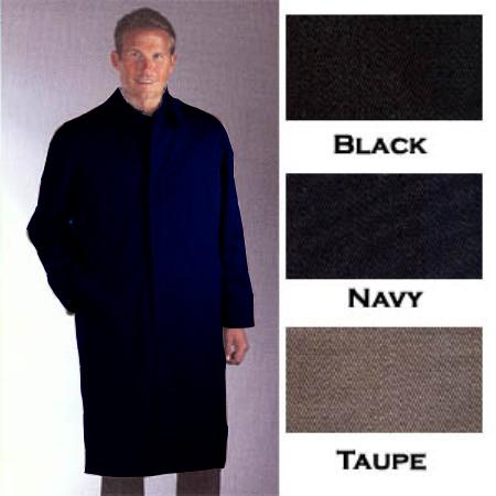 SKU#NVB823 Single Breasted Classic Poplin Raincoat-Trench Coat Navy Blue $189