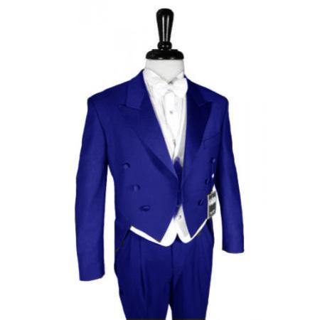"SKU#RYB565 Super 150's Royal Blue Peak Tailcoat Pre Order Collection ""Delivery in 30 days"" $795"