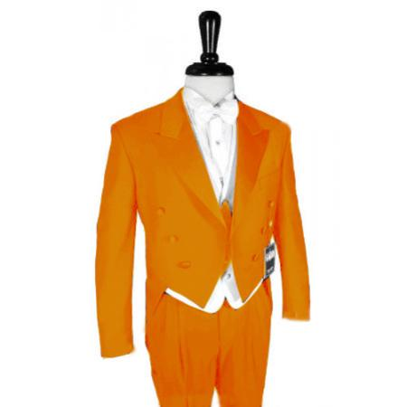 "SKU#ORG214 Super 150's Orange Peak Tailcoat Pre Order Collection ""Delivery in 30 days"" $795"