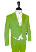 "SKU#AGN213 Super 150's Apple Green Peak Tailcoat  Pre Order Collection ""Delivery in 30 days"" $795"