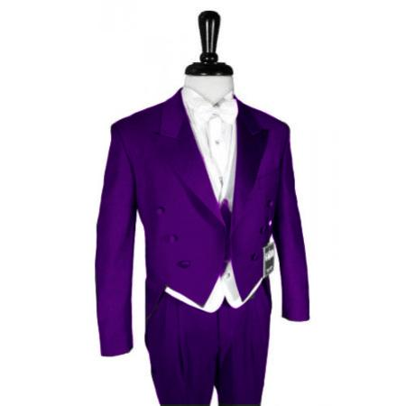 "SKU#PRL901 Super 150's Purple Peak Tailcoat Pre Order Collection ""Delivery in 30 days"" $795"