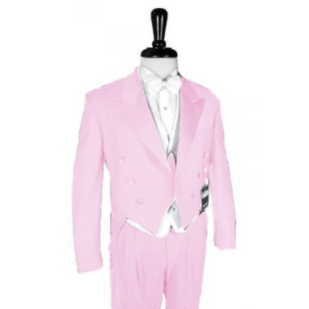 "SKU#PNK555 Super 150's Pink Peak Tailcoat Pre Order Collection ""Delivery in 30 days"" $795"