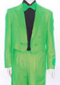 "SKU#APG008 Mens Tail Peak Lapel Apple Green Tuxedo Pre Order Collection ""Delivery in 30 days"" $795"